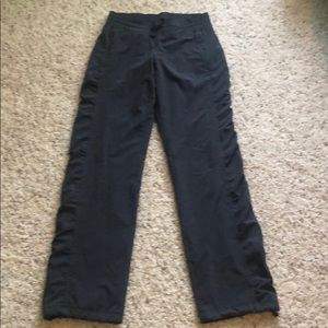 Athleta LaViva Grey Lined Studio Pants Sz 0